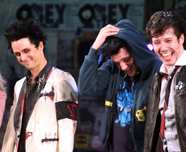 Billie Joe Armstrong, Michael Esper, and John Gallagher Jr.