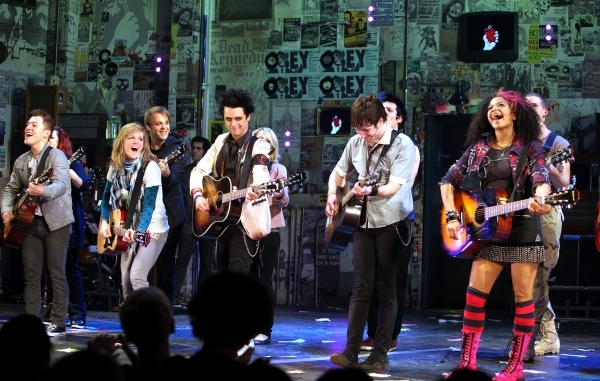 Billie Joe Armstrong and the Cast of AMERICAN IDIOT