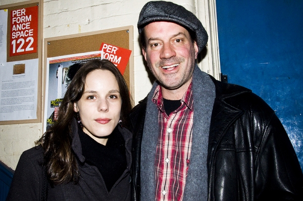 Anita Anthonj and Danny Mastrogiorgio at BRING US THE HEAD OF YOUR DAUGHTER Opens Off-Broadway