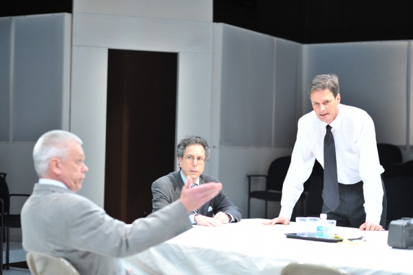 David Sweeney, Peter Tedeschi and John Allore at Burning Coal's THE SHAPE OF THE TABLE
