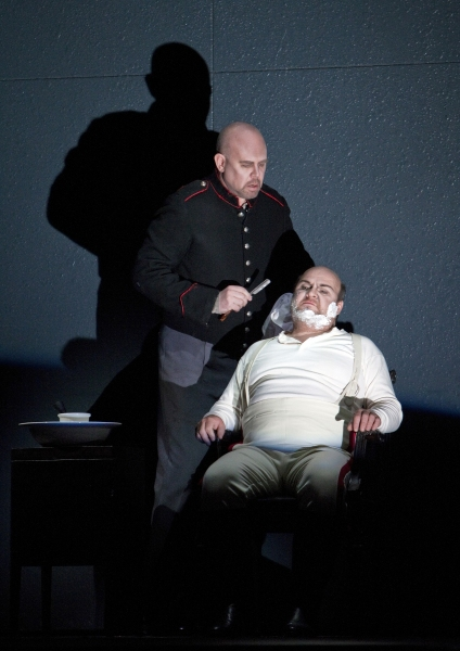 """Alan Held in the title role and Gerhard Siegel as the Captain in Berg's """"Wozzeck."""" Ph Photo"""