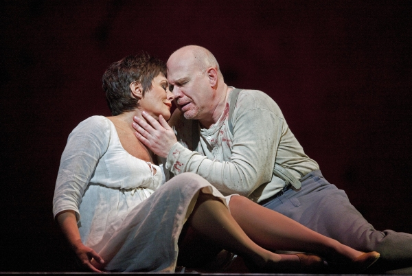 """Waltraud Meier as Marie and Alan Held in the title role of Berg's """"Wozzeck."""" Photo: C Photo"""