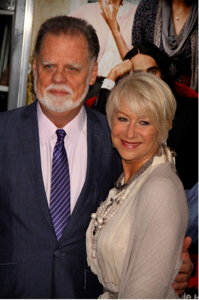 Taylor Hackford and Helen Mirren at ARTHUR Flick with Mirren, Brand et al. Premieres in NYC