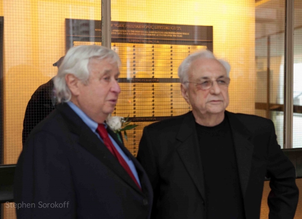 David Steiner & Frank Gehry at Folksbiene Honors Michael Tilson Thomas at Avery Fisher Hall
