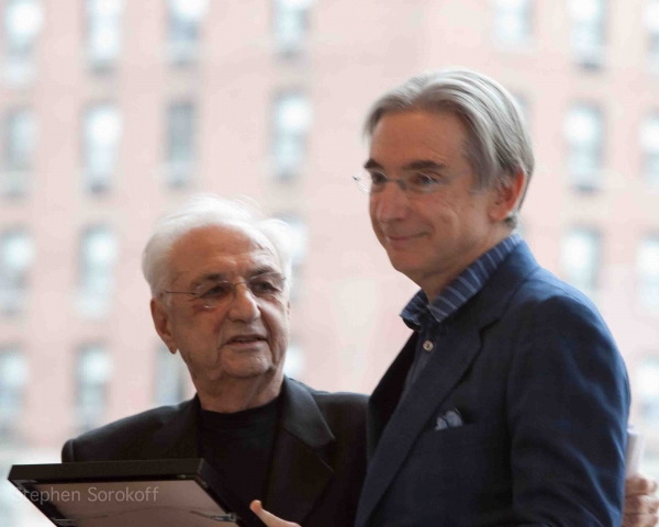 Frank Gehry & Maestro Thomas at Folksbiene Honors Michael Tilson Thomas at Avery Fisher Hall