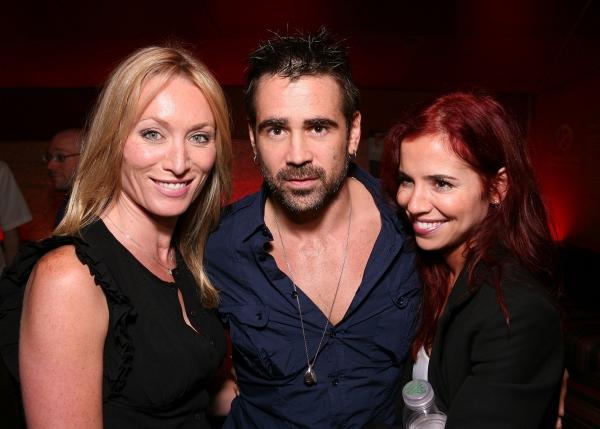LOS ANGELES, CA - APRIL 6: (L-R) Victoria Smurfit, actor Colin Farrell and sister Cla Photo
