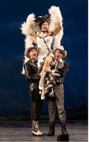Ian Liberto, Helen Anker, and Mathew deGuzman at CURTAINS at Paper Mill Playhouse!