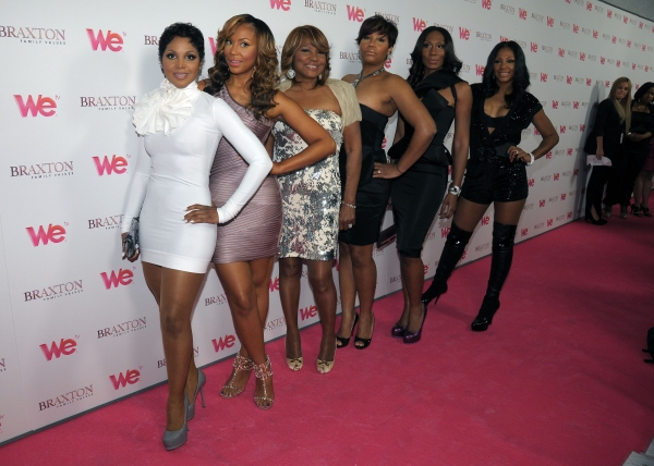 Toni Braxton and family at the launch party for 'Braxton Family Values'  The London West Hollywood, West Hollywood, CA, USA  April 6, 2011  © RD/ Scott Kirkland/ Retna Digital at WE's 'Braxton Family Values' Launches in LA