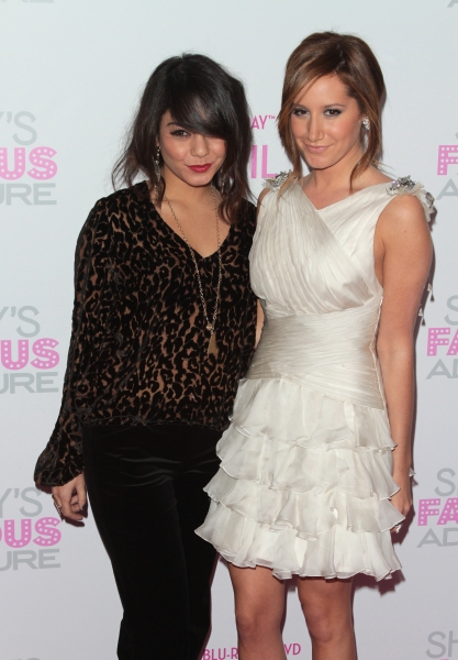 Vanessa Hudgens, Ashley Tisdale in attendance; The Sharpay's Fabulous Adventure DVD Release Party held at the Soho House in West Hollywood, California on April 6th, 2011.  © RD / Orchon / Retna Digital at Tisdale Celebrates 'Sharpay's Fabulous Adventure' DVD Release