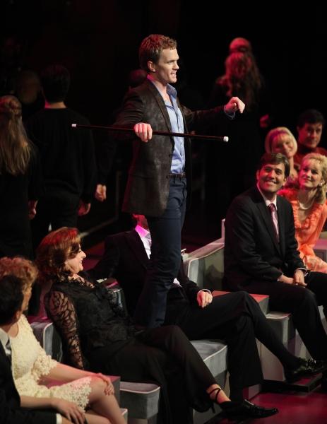 Neil Patrick Harris with Patti LuPone, Craig Bierko, Jill Pace & Martha Plimpton performing in the New York Philharmonic presentation of Stephen Sondheim's 'Company', A Spring Gala Benefit  in New York City.