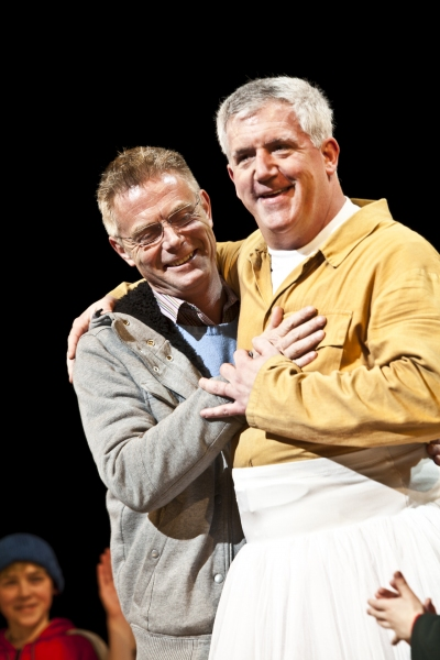 Stephen Daldry and Gregory Jbara at BILLY ELLIOT Celebrates 1000th Performance on Broadway!