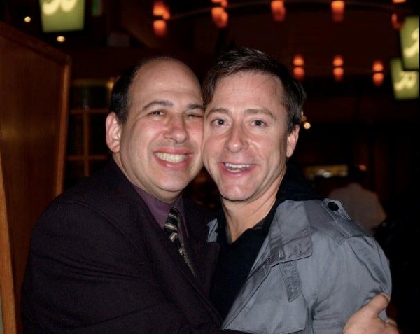 Michael Kostroff and Larry Raben at THE PRODUCERS Opening Night Party at Cabrillo Music Theatre