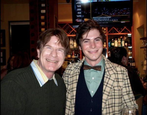 Steven Stanley of stagescenela.com and Chris Caldwell Eckert, who plays Carmen Ghia