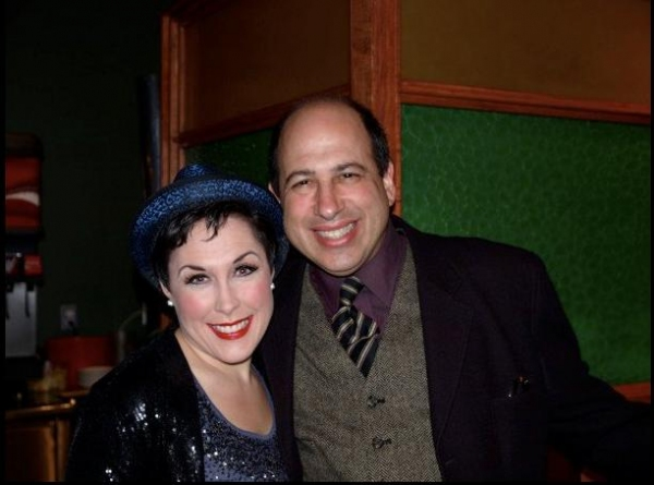 Farley Cadena (Hold Me-Touch Me) and Michael Kostroff (Max Bialystock) at THE PRODUCERS Opening Night Party at Cabrillo Music Theatre