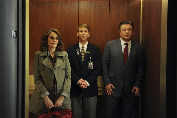 Tina Fey as Liz Lemon, Jack McBrayer as Kenneth Parcell, Alec Baldwin as Jack Donaghy at '30 Rock' Releases Pictures from 100th Episode