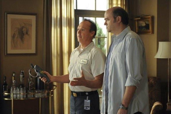Michael Keaton as Tom, Scott Adsit as Pete