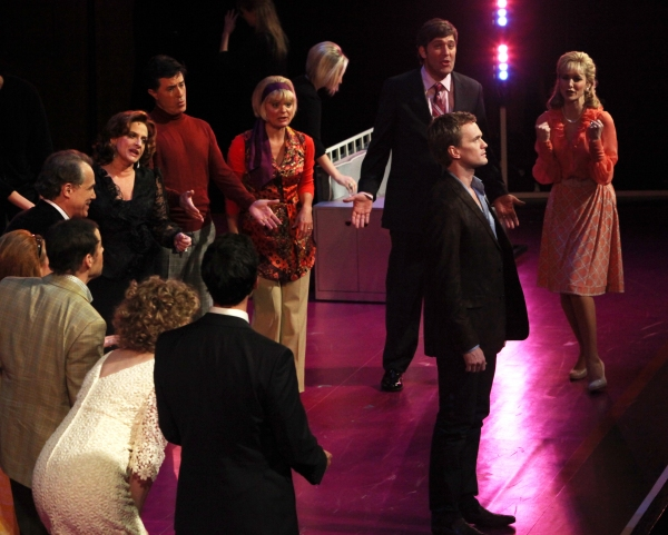 Neil Patrick Harris, Patti LuPone, Stephen Colbert,  Martha Plimpton, Craig Bierko & Jill Paice performing in the New York Philharmonic presentation of Stephen Sondheim's 'Company', A Spring Gala Benefit  in New York City.