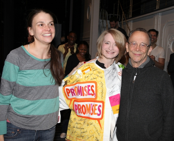 Sutton Foster & Joyce Chittick & Joel Grey attending the Opening Night Performance Gypsy Robe Ceremony for Recipient Joyce Chittick for The Roundabout Theatre Company's Broadway Production of 'Anything Goes'  in New York City.