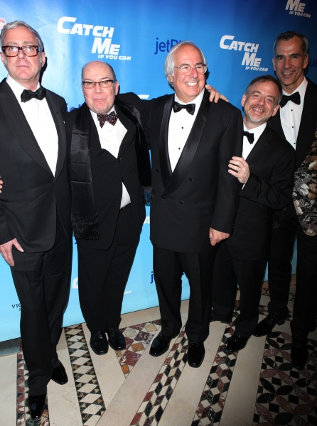 Scott Wittman, Jack O'Brien, Frank Abagnale Jr. Marc Shaiman & Jerry Mitchell attending the Broadway Opening Night After Party for 'Catch Me If You Can' in New York City.