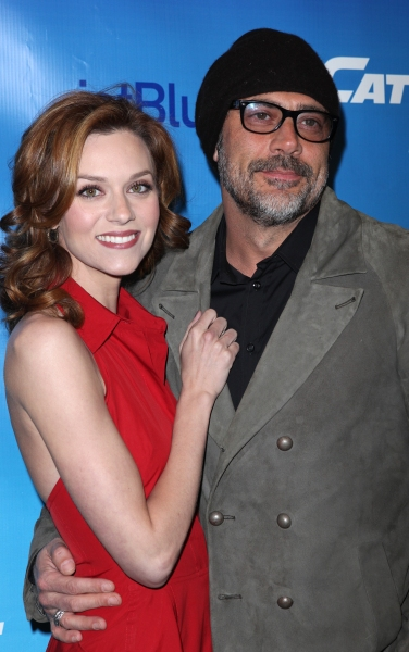 Hilarie Burton & Jeffrey Dean Morgan attending the Broadway Opening Night Performance of 'Catch Me If You Can' at the Neil Simon Theatre in New York City.