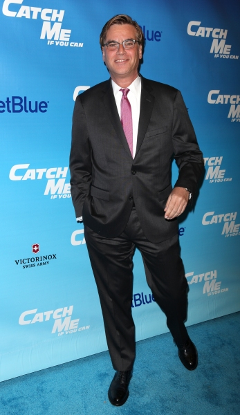 Aaron Sorkin attending the Broadway Opening Night Performance of 'Catch Me If You Can' at the Neil Simon Theatre in New York City.
