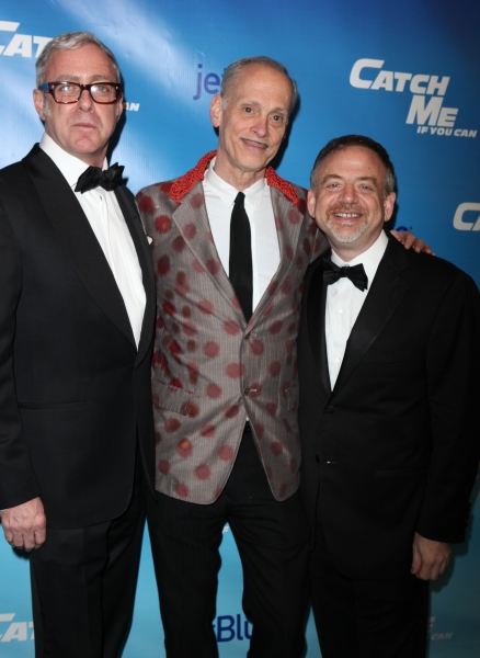 Scott Wittman & John Waters & Marc Shaiman attending the Broadway Opening Night Performance of 'Catch Me If You Can' at the Neil Simon Theatre in New York City. at CATCH ME IF YOU CAN Opening Night - Arrivals