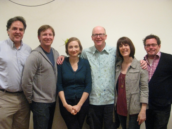 Tim Sanford, Mr. Langs, Ms. Gregory, Mr. Madsen, PH's Managing Director Leslie Marcus, New York Theatre Workshop's Managing Director William Russo