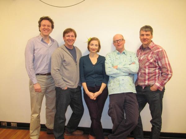 Aaron Gandy, creators John Langs, Joy Gregory & Gunnar Madsen and choreographer Ken  Photo