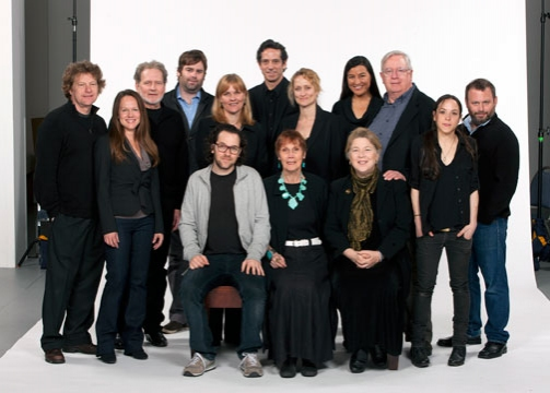 Director Sam Gold (left, seated) with the Old Globe cast of August: Osage County � (seated) Lois Markle, Robin Pearson Rose; (from left, standing) Joseph Adams, Carla Harting, Robert Foxworth, Haynes Thigpen, Kelly McAndrew, Robert Maffia,