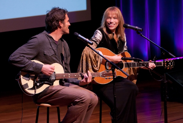 Carly Simon with her son Ben Simon