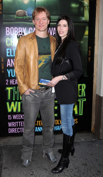 Bill Dawes & Mandy May attending the Broadway Opening Night Performance  for 'The Mother F**ker with the Hat'  in New York City. at THE MOTHERF**KER WITH THE HAT Opening Night Arrivals