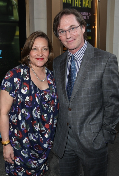 Georgiana Bischoff & Richard Thomas attending the Broadway Opening Night Performance  for 'The Mother F**ker with the Hat'  in New York City.