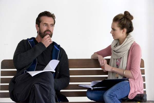Rupert Everett and Kara Tointon at Everett, Tointon in Rehearsal for West End's PYGMALION!