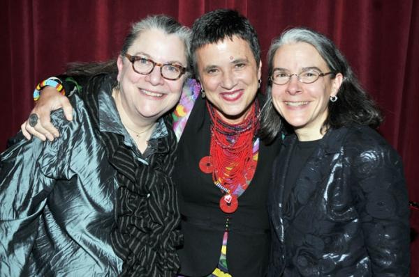 Diane Wondisford (MT-G Producing Director), Eve Ensler, Michelle Steckler