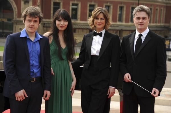 Benjamin Grosvenor, Alice Sara Ott, Katie Durham, and Edward Gardner Photo