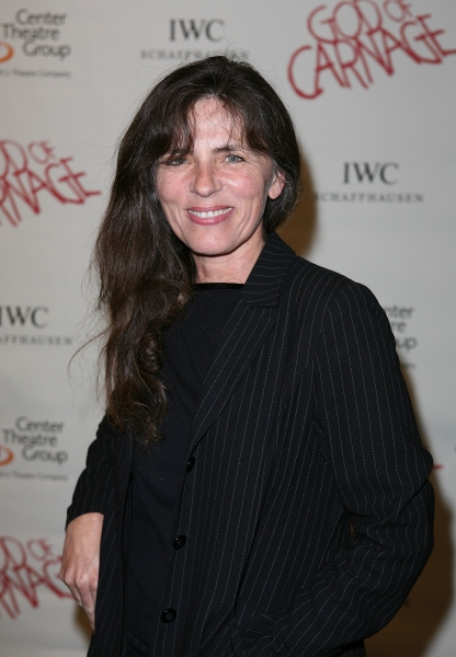 "LOS ANGELES, CA - APRIL 13: Mira Furlan poses during the arrivals for the opening night performance of ""God of Carnage"" at Center Theatre Group's Ahmanson Theatre on April 13, 2011 in Los Angeles, California. (Photo by Ryan Miller/Capture Imaging)"