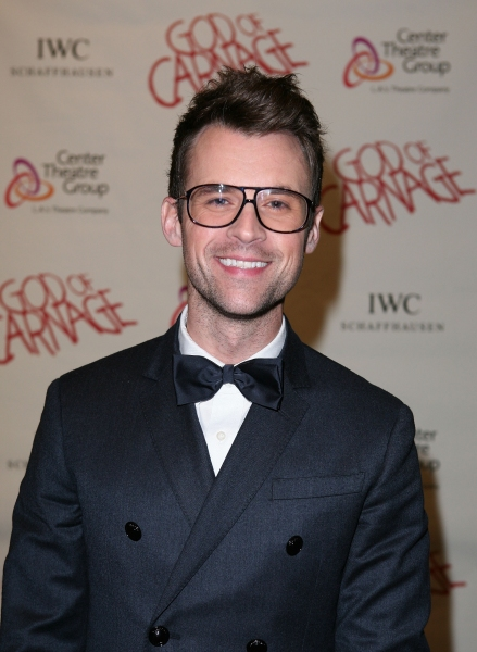 "LOS ANGELES, CA - APRIL 13: Stylist Brad Goreski poses during the arrivals for the opening night performance of ""God of Carnage"" at Center Theatre Group's Ahmanson Theatre on April 13, 2011 in Los Angeles, California. (Photo by Ryan Miller/Capture Imaging"