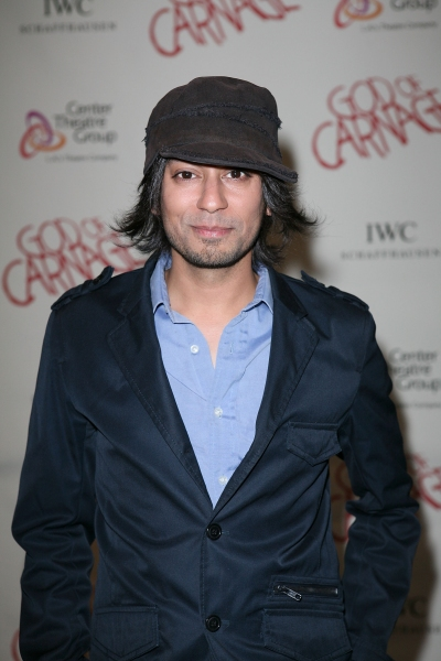 "LOS ANGELES, CA - APRIL 13: Vik Sahay poses during the arrivals for the opening night performance of ""God of Carnage"" at Center Theatre Group's Ahmanson Theatre on April 13, 2011 in Los Angeles, California. (Photo by Ryan Miller/Capture Imaging)"