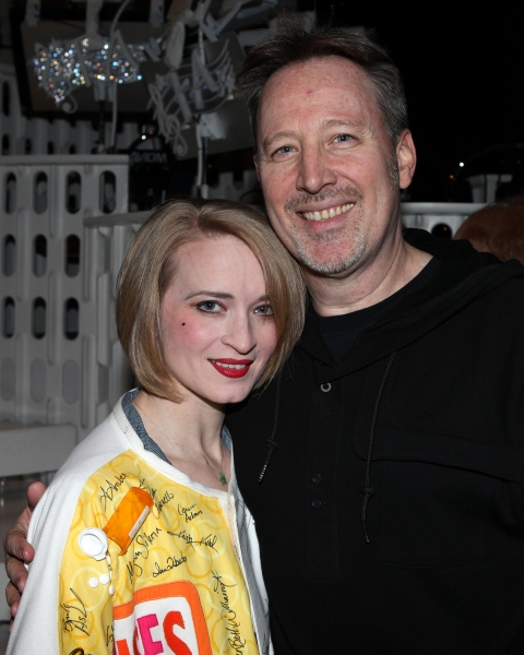 Joyce Chittick & John McDaniel celebrating the Broadway Opening Night Gypsy Robe Cere Photo