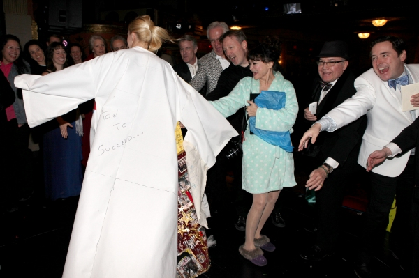 John Daniel, Linda Hart, Jack O'Brien & Jennifer Frankel celebrating the Broadway Ope Photo