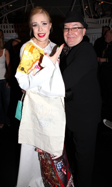 Jennifer Frankel & Jack O'Brien celebrating the Broadway Opening Night Gypsy Robe Ceremony for Recipient Jennifer Frankel of 'Catch Me If You Can' at the Neil Simon Theatre in New York City.