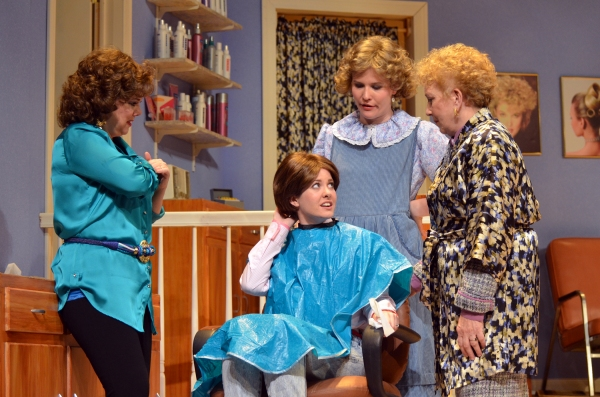 Connie Lee as Truvy, Katie Kresha as Shelby, Jennifer McGill as Annelle and Kay Clark as Clairee