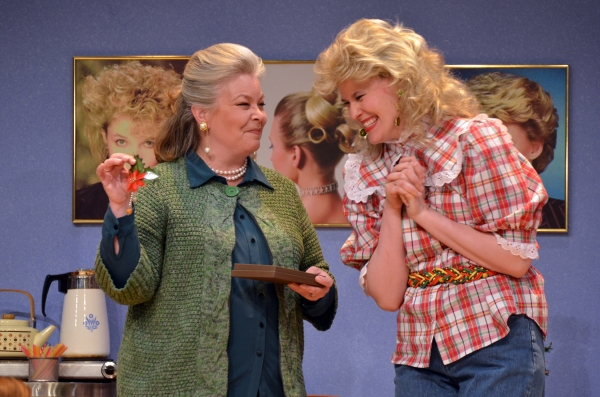 Charleen Willoughby as Ouiser and Jennifer McGill as Annelle
