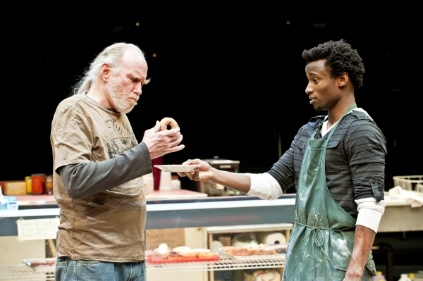 Mike Hartman as Arthur and Sheldon Best as Franco at BWW Reviews: Denver Center's SUPERIOR DONUTS