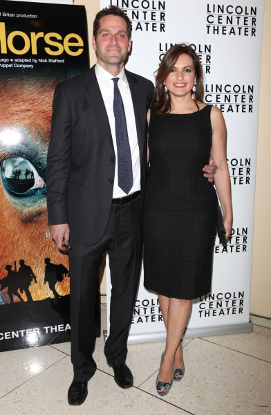 Peter Hermann & Mariska Hargitay attending the Opening Night After Party for 'War Horse' in New York City.