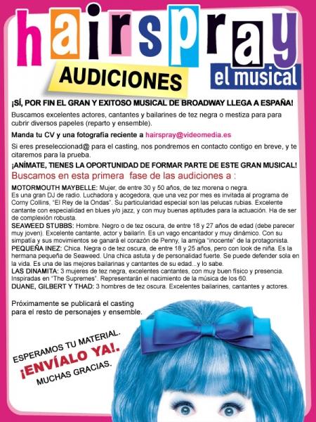 Convocadas audiciones para el estreno en España de 'Hairspray'