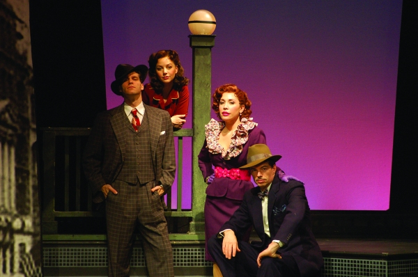 L to R: Josh Davis, Jessica Grov�'¨, Andr�'¨a Burns and Thomas M. Hammond