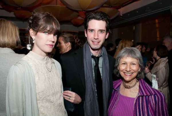 Celia Rowlson-Hall, Andrew Pastides and Elysabeth Kleinhans at LOVE SONG Opening Night