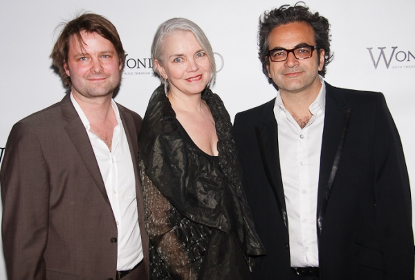 Sven Ortel, Susan Hilferty and Neil Patel at WONDERLAND on Broadway Red Carpet!