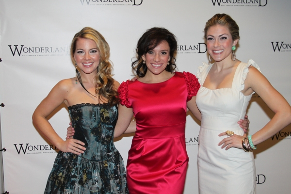 Morgan James, Natalie Hill and Kate Loprest at WONDERLAND Opening Night on Broadway - Party!